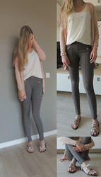 Josca . - Pants   Berska, Pull & Bear Top With Lace   And - Good girls