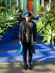 Chin from FOUREYES - Morrissey Shirt, Chronicles Of Never Coat, Country Road Shoes, Cheap Monday Jeans - Elemental Cobalt
