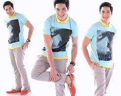 Richard Faulkerson - F&H Top, F&H Pants, G Star Raw Shoes, Watches Watch - SURF UP