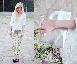Aneta M - Romwe Floral Pants, Cndirect Floral Blouse, Czas Na Buty Heels - FLORAL