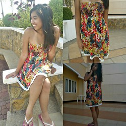 Trish Caning - Forever 21 Paisley Dress, Banana Peel Slippers - I miss summer