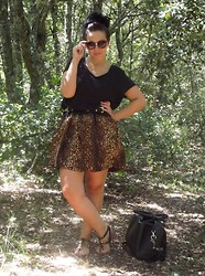 Charlotte Bernard - Zara Leopard Dress, H&M Top, Bershka Bag - Again!