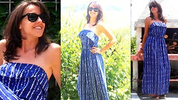 Ellen Butter - Ray Ban Sun Glasses, Kontatto Blu Long Dress - It's not important where we are, but where we look
