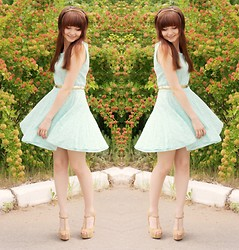 Happy Girl - Modis Dress, Centro Shoes - Mint dress