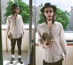 Morris S - H&M Hat, Ebay Sunglasses, Ebay Bolo Tie, H&M Shirt, Humana Pants, Humana Shoes, Diy Horsie - The Reading Rodent