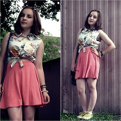 Marta O - Ginger G Pink Skirt, Influence Tropical Shirt - It's summer now!