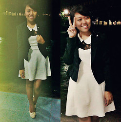 Glory Aguirre - Coat, Peter Pan Collared Dress, Platforms - Miss Usherette