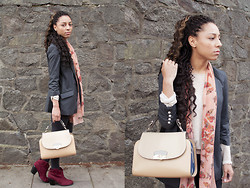 Voni - River Island Blazor, New Look Boots, River Island Bag, H&M Sweater, Scalf - Onwards