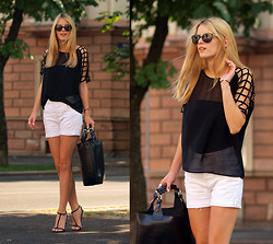 Ivana Ivic - Pieces Top, Zara Shorts, Zara Sandals, Sheinside Bag, Chanel Sunglasses - Keep it simple