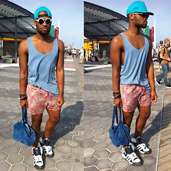 Askia Abdull - Adidas, American Apparel Acid Wash Denim Bag - CONEY ISLAND DREAMER
