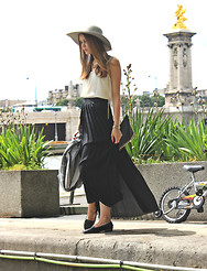 Greetta R - Topshop Top, Weekday Skirt, American Apparel Hat - Daydream