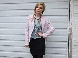 Courtney Melville - H&M Top, Topshop Blazer, New Look Skirt - You shoot me down, but i won't fall
