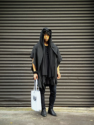 Chin from FOUREYES - Pleasure Principle Hoodie, Lee Jeans, Asos T Shirt - Black Hood