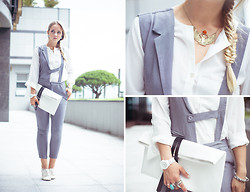 Olga Choi - Oasap Jumpsuit, Choies Bag, Goodnight Macaroon Blouse, Asos Watches - Half-formal look