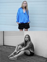 Dominica Justyna - Leather Shorts, Zara Satin Shirt, Tommy H. Watch - UGLY-PRETTY? | movesfashion.