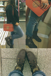 Talita M. - Dakota Combat Boot, Clock House Jeans - The end of the day