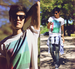 Vini Uehara - Amp A Mulher Do Padre T Shirt, Levi's® Levi's 501, Your Eyes Lie Shirt - Fine Times