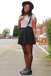 Mwandu S - River Island Hat, Ark Cropped Top, Topshop Skirt, Underground Creepers - Even when i Dream all Day