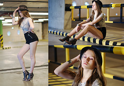 Magdalena Cibis - New Yorker Skull Top, H&M Shorts, Mohito Heels, New Yorker Hat - Drive