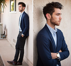 Edward Honaker - Gant Rugger (Similar) Jacket, Brooks Brothers Shirt, Paul Smith Pants, Bostonian (Similar) Shoes, Larsson & Jennings Watch - L&J