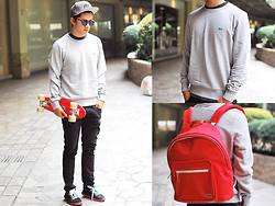 David Guison - Lacoste Sweatshirt, Lacoste Backpack, Cushe Shoes - Fresh Basics