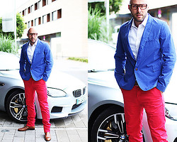 Pete Heat - Vito Claudi Blue, Scotch & Soda Red - Outfittery red&blue