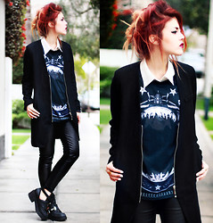 Lua P - Sheinside Tee, Boots, Sammydress Leggings - Watch The Sky For Me.