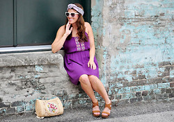 Christen L - Urban Outfitters Wayfarers, Target Dress, Charlotte Russe Wedges - Pretty in purple