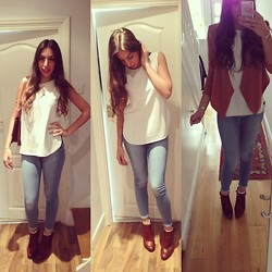 Teral Atilan - Zara White Shirt, Topshop Jeans (Leigh), Stuart Weiztman Booties, Russell&Bromley Box Bag, Primark Socks - Casual Fridays