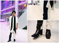 Juan Lorenzo - Anteprima Long Coat, Gold Dot Hans Shirt, 10/10 2 Toned Pants, Bndln Boots - PHILIPPINEFASHIONWEEKDAY1
