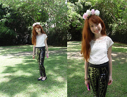 ♡ Mai Stor ♡ - Diy Floral Headband - Bright Sequins