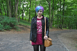 Koraline M - H&M Ramones Dress, H&M Jacket, Promod Bag - Hey little girl..I wanna be your boyfriend