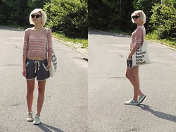 Lidia Nawara - H&M Sweater, Shorts, Vans Shoes, H&M Bag - Chillin'