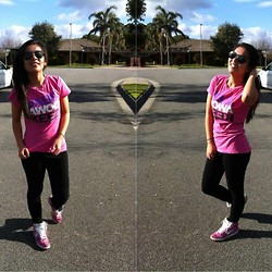 Anna Ordonez - Jabbawokeez Shirt, Nike Dunks, Ray Ban Aviators - Live your live.
