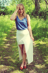 Olivia K - Monki Top, Weekday Skirt, Monki Shoes - Sundays white skirt