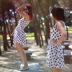 Nat @unmatchafrappe - H&M Dress - Polka Dots