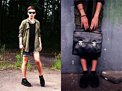 Norbert Jędrzejczak - Brylove Sunglasses, Tuk Creepers, Zara Camo Jacket, H&M Jeans Shorts - Fashion with 'fer'