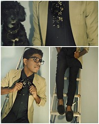 André Alcantara - Zara Blazer, Pants Renner, Tie Brechó - Simple things like love