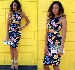 """Slim"" Shay D - Lilly's Kloset Wow Dress, Nasty Gal See Through Bag, Jeffrey Campbell Clear Heels - Boom Boom Pow"