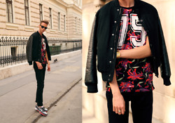 Chaby H. - H&M Bomber Jacket, Zara Floral T Shirt, Nike Airmax - Tropical swag