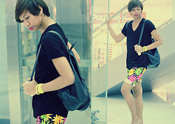 Dyosa Urquia - Eric Floral Shorts - Flowers Grow Out of Dark Moments.