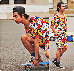 Denny Balmaceda - Mondrie Shirt, Mondrie Shorts, Converse Chuck Taylors Shoes - Can I Kick It?