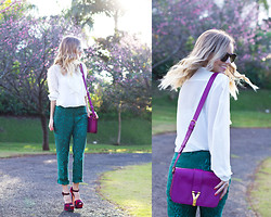 Luisa Accorsi - Yves Saint Laurent Bag, Luisa Accorsi Shirt, J. Crew, Prada Shoes - Sunshine