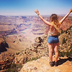 Monica Barleycorn - New Look Denim Shorts, Forever 21 Rope Back Top - The Grand Canyon