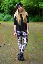 Rosie Blake - Smoke Leggings, Studded Boots, Floral Crown - I smoke to forget