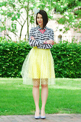 Shiny Syl - H&M Blouse, Skirt Missspark - Dots