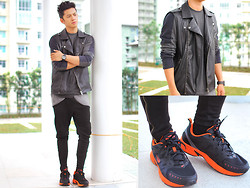 David Guison - Forever 21 Vest, World Balance Rubber Shoes, Penguin Watch - Grunge x Activewear
