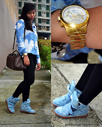 Jamille Añago - Michael Kors Watch, Forever 21 Top, Louis Vuitton Bag, Imchocolateshop Sneakers - Denim Love