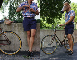 Stumbled Upon Easy - Thrifted Shirt, H&M Belt, Thrifted Shorts, Ray Ban Sunglasses, Thrifted Shoes, Casio Watch, Raleigh Bike - Ride with me.