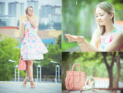 Olga Choi - Imomoi Dress, Oasap Bag, Udobuy Heels - Kiss the rain #2